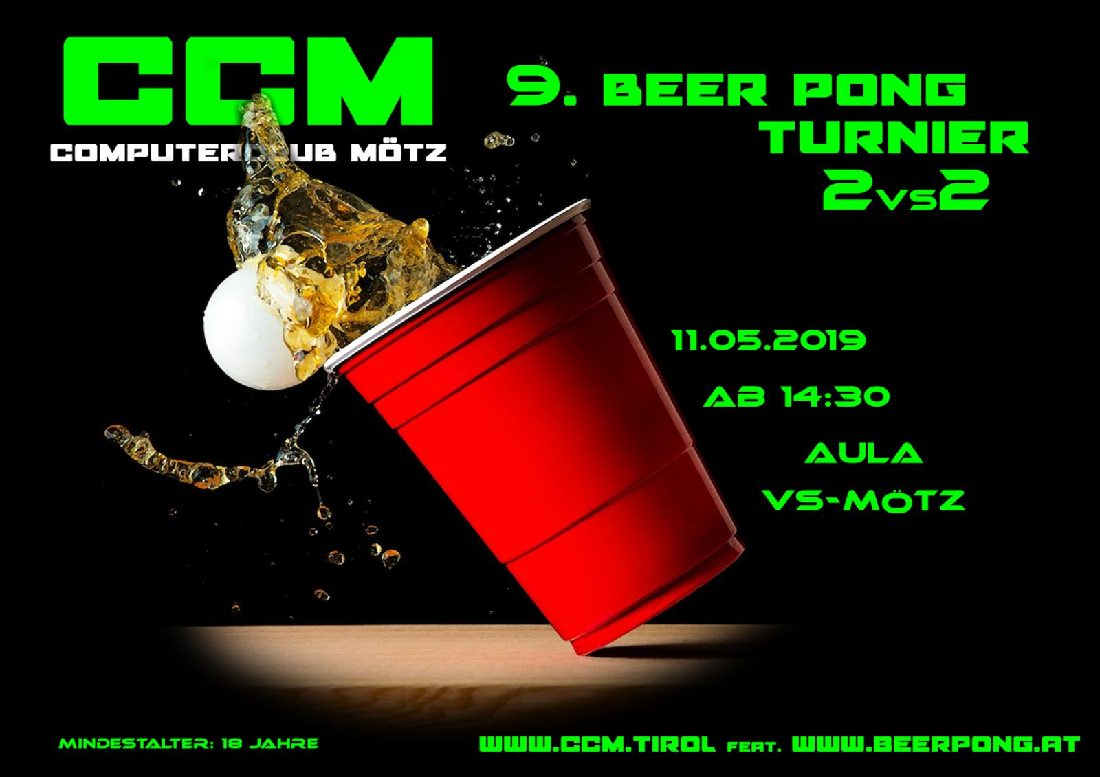 9.CcM BEER PONG Turnier 2019